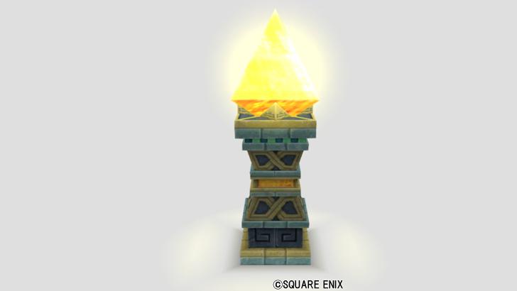 鉱石の台座ランプ