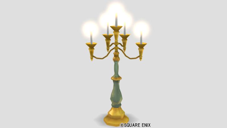 ロウソクの燭台ランプ
