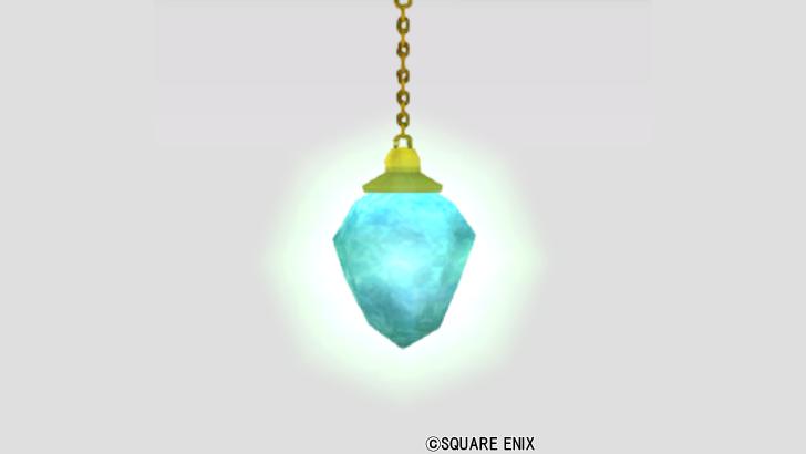 妖精図書館の吊り青水晶
