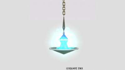 魔塔の吊りランプ・青