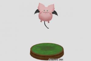 ピンクモーモンの像