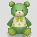 クマのぬいぐるみ・緑