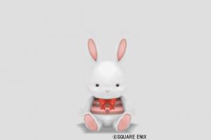 ウサギぬいぐるみ小・白
