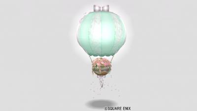 フラワーの気球・緑