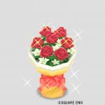 レッドの花束