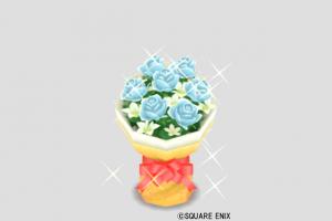 アイスブルーの花束