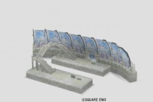 ジュレット駅の模型・雪