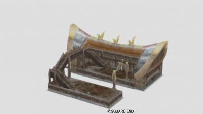アズラン駅の模型・雪