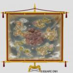 世界地図タペストリー