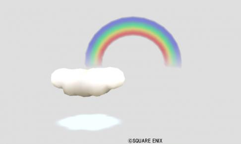 ふわふわ雲オブジェ・虹