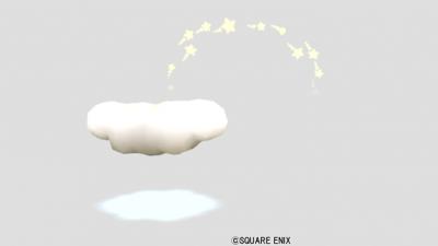 ふわふわ雲オブジェ・星