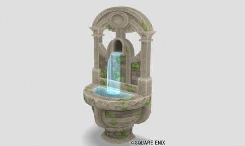 朽ちた遺跡の家用噴水
