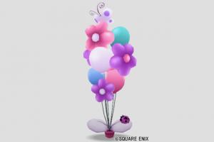 カラフル風船・紫桃