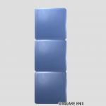 3段ブロック・メタル青