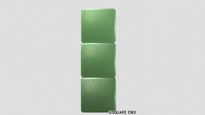 3段ブロック・メタル緑