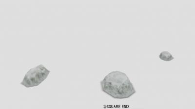 おもちゃの岩・雪