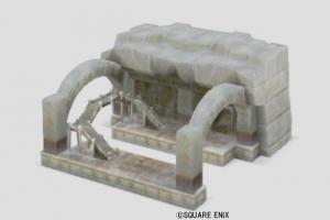 ガタラ駅の模型・雪