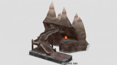 グレン駅の模型・雪