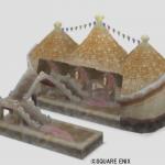 オルフェア駅の模型・雪