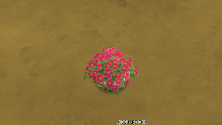 花の植木鉢・赤
