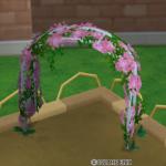 花のアーチ・桃