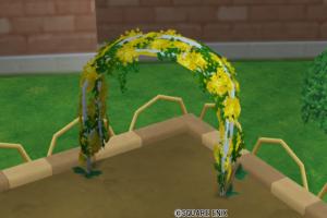 花のアーチ・黄