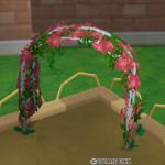 花のアーチ・赤