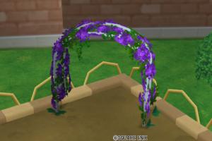 花のアーチ・紫