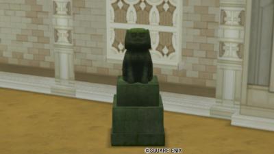 【ハウジング】庭具 > 像・人形(庭)「番犬の石像」