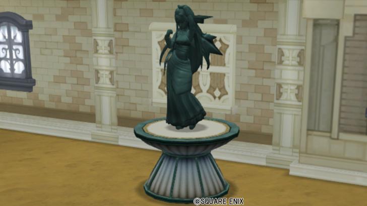 【ハウジング】庭具 > 像・人形(庭)「ウェディの銅像」