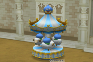 【ハウジング】庭具 > 像・人形(庭)「メリーゴーランド・青」