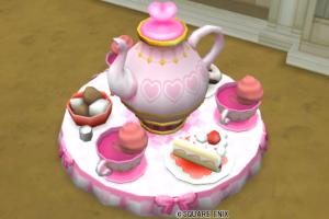 【ハウジング】庭具 > 像・人形(庭)「コーヒーカップ・桃」