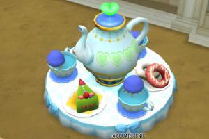 【ハウジング】庭具 > 像・人形(庭)「コーヒーカップ・緑」