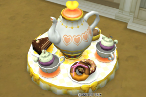 【ハウジング】庭具 > 像・人形(庭)「コーヒーカップ・黄」