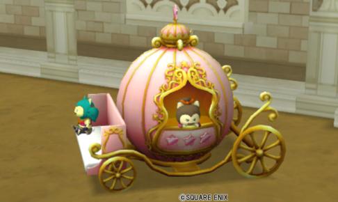 【ハウジング】庭具 > 像・人形(庭)「三姉妹の馬車・桃」