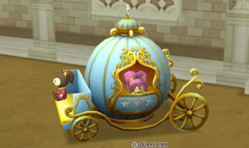 【ハウジング】庭具 > 像・人形(庭)「三姉妹の馬車・青」