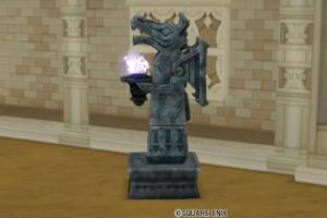 【ハウジング】庭具 > 像・人形(庭)「闇の領界の石像」