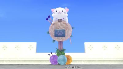 【ハウジング】庭具 > その他(庭)「白ねこポスト」
