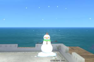 【ハウジング】庭具 > その他(庭)「マフラーつき雪だるま」