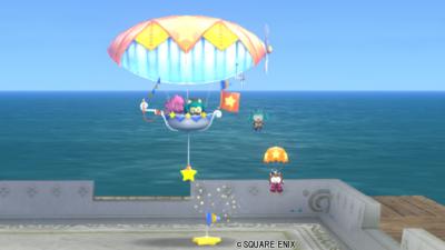 【ハウジング】庭具 > その他(庭)「三姉妹の飛行船・黄」