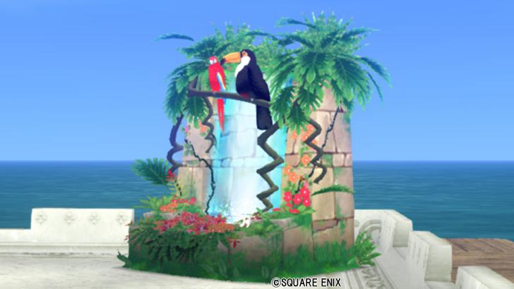 【ハウジング】庭具 > その他(庭)「トロピカルな滝」