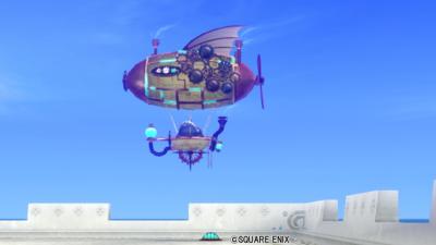 【ハウジング】庭具 > その他(庭)「スチーム飛行船」