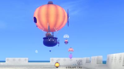 【ハウジング】庭具 > その他(庭)「カボチャの気球」