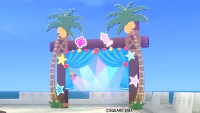 【ハウジング】庭具 > その他(庭)「夏のお祭りアーチ」