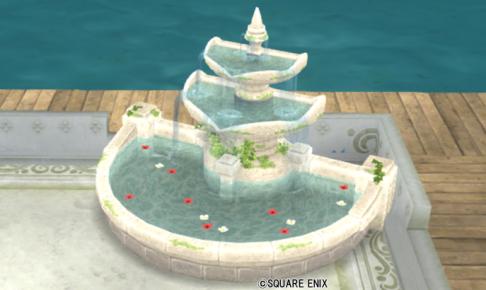 【ハウジング】庭具 > その他(庭)「朽ちた遺跡の庭用噴水」