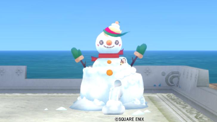 【ハウジング】庭具 > その他(庭)「雪だるまスライダー」