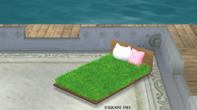 【ハウジング】庭具 > その他(庭)「庭用ネコ草ベッド」