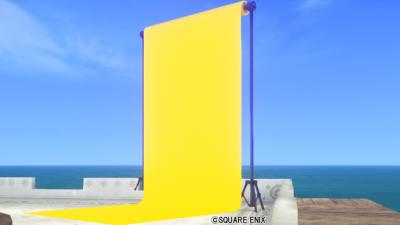 【ハウジング】庭具 > その他(庭)「庭用黄の背景スクリーン」