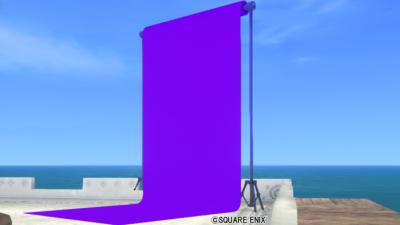【ハウジング】庭具 > その他(庭)「庭用紫の背景スクリーン」