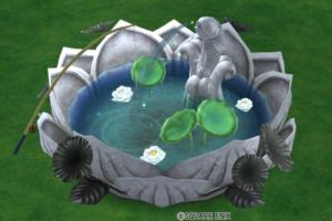 【ハウジング】庭具 > その他(庭)「スイレンの釣り堀」